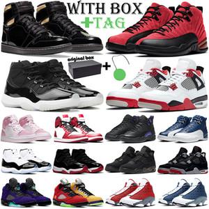 aj1 retro 1s 11s jumpman erkekler basketbol ayakkabıları 1s 4s Ateş Kırmızı 5s 11s Concord 12s 13s açık eğitmenler kutusu ile spor ayakkabı