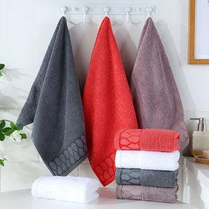 Cotton towel towels 120g long-staple absorbent black white soft Factory direct large square jacquard toweles top selling
