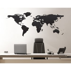 World map vinyl wall decals. Great living room decoration, room furniture decoration DT11 T200601