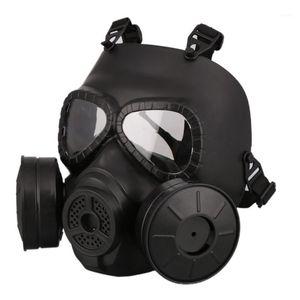 M40 Double Fan Gas Mask CS Filter Paintball Helmet Tactical Army Capacetes De Motociclista Guard FMA Cosplay1