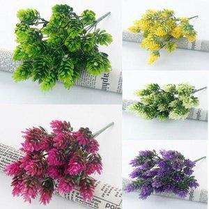 플라스틱 인공 꽃 가짜 거짓 식물 잔디 꽃 꽃다발 야외 정원 결혼식 신부의 꽃 장식