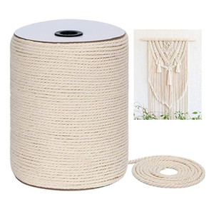 Macrame Rope Strands Twisted Cotton Macrame Thread Cord for Wall Hanging Plant Hangers DIY Home Wedding Crafts Accessories