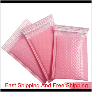 50Pcs Bubble Mailers Pink Poly Bubble Mailer Self Seal Padded Envelopes Gift Bags Packaging Envelope Bags Bbycsw Gthzf D98Hr