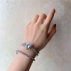 HBP الأزياء الفرنسية الأميرة تاج كامل الماس الأفعى سوار مرن