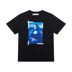 Moda de alta calidad de algodón Mangas cortas Mona Lisa Pintura al óleo T SHIRT MENS TOP T-SHIRT Camiseta Casual Mujeres Tee Shirt X Printing Tops de verano