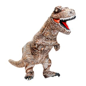 Fancy Dinosaur Inflatable Costume for Halloween Adult Cosplay Dino Suit Carnival Party Dress Christmas T-rex Blow up Jumpsuit