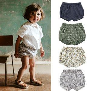 EnkeliBB LCC Brand Toddler Boys Girls Summer Bloomers Cotton Linen Baby Summer Shorts Fresh Style Kids Unisex Bloomers 210303