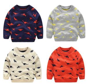 autumn winter Knitted Toddler Boy Sweater Casual Spring Cartoon Dinosaur Pattern Warm Cotton Boys Sweaters Pullovers Children