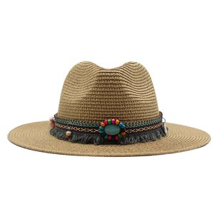 Fashion Panama Cappelli per le donne Uomini 7 colori Jazz Fedoras Cooling Sun Hats Estate Traspirante Elegante Signore Party Hat Cappello all'ingrosso C0305