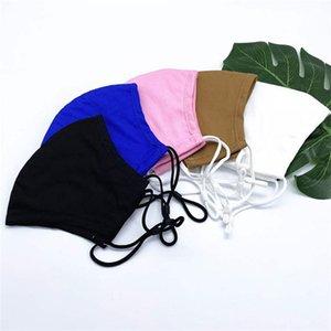 Masque de coton masque pour hommes et masques anti-poussière pour femmes PM2.5 Filtre remplaçable respirant Masques adultes Noir Blanc anti-poussière Smog Facem.