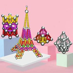 Bloques magnéticos de bola de acero juguete colorido juguetes de construcción Educación temprana para niños