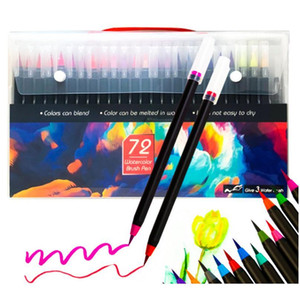 Watercolor Brush Pen Markery Manga Copic Markers 20 24 48 72 Colored Art Markers Sketchbooks For Drawing Stationery jllHMx