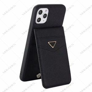 Caja del teléfono del diseñador de moda para iPhone 12 12pro 11 11pro x XS Max XR 8 7 Plus Tapa de la ranura de la tarjeta para Samsung S20 S10 S20Plus S10Plus Note 20 10