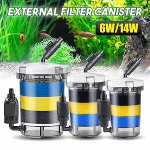 220V Aquarium External Canister Filter Fish Water Tank Air Pump Sponge Pond Water Fish Tank Filter Pump Aquarium Purifier Y200917