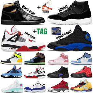 retro scarpe da basket all'aperto 1s Tie Dye 11s Concord 12s Hyper Royal 13s black cat 4s what the 5s womens mens trainers Sports Sneakers