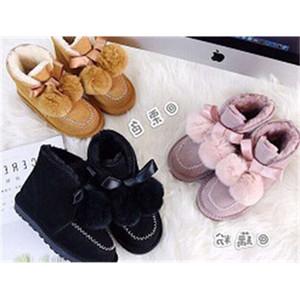 أحذية الثلوج XX398 Little Princess Childrens Kailin الصوف القوس و Pompon Ball Zhongbang