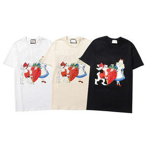 T-shirts 21ss Women T-shirts Cartoon Print Tees Letter Printing Casual Style Summer Tops Good Quality Men's Women's Tees Size S-2XL
