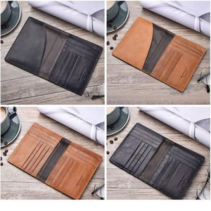 Thinkthendo Retro Genuine Leather Cowhide Travel Passport Id Card Cover Holder Case Protector Organizer Wallet Bla jllpoE
