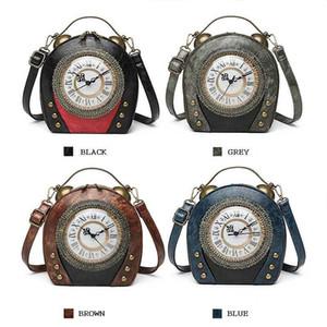 Wholesale Mujeres de la novedad Bolsa de reloj Forma de reloj Monedero Vintage Crossbody Messenger Bolsa de embrague Fresco Artículo de regalo