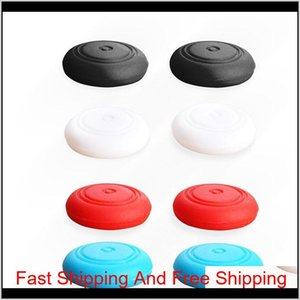 Silicone Thumb Stick Caps Gel Guards For Nin Tendo Sw Itch Ns Joy-Con Controller Joystick Grips Game Accessories Kr5Bp Lzkmv