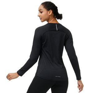 Tracksuits TUnly Юбка с твердым массим Женская футболка длинные теплые открытый рукав спортивный размер йога фитнес повседневный верхний дизайнер