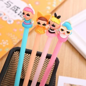Cute Creative Cartoon Gel Pens Students Writing Tool Black Ink Office Accessories Pen Learning School Stationery Supplies 0450