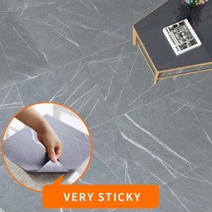 Wallpapers Modern Thick Self Adhesive Tiles Floor Stickers Marble Bathroom Ground PVC Bedroom Furniture Wall Sticker Room Decor