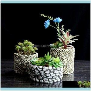 Cake Tools Bakeware Kitchen, Dining Bar & Gardensile Molld Stone Multi-Meat Flower Desktop Pots 3D Vase Mold Concrete Molds Cement Planter H