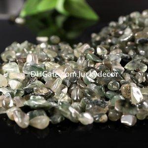 1000G зеленый рутилированный кварц упал каменные фишки измельченные нерегулярные натуральные рок хрустальные кварцевые драгоценные камни кусочки дома крытый декоративный гравий