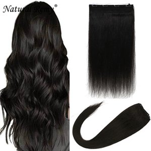 Flip human hair extensions Invisible Fish Line 1#1B#2#4#27#613# 14-26inch 80-180g