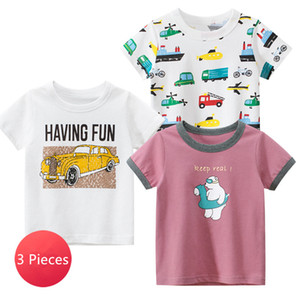 3 Pieces Lot Children Boy Girl T-shirts Clothes Cotton Short Sleeve Tee Tops Baby Girls Bottoming Shirts Kids Undershirts