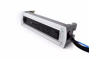 Универсальная стандартная встреча Audi Video Conform Tables Tables Net, HDMI VGA USB, блокирующая электрическая розетка