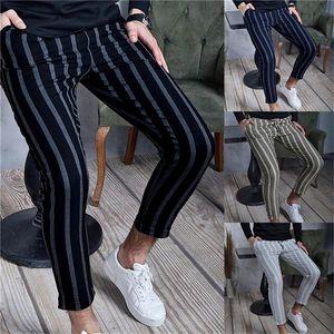 Fashion 2021 Summer Thin Striped Pants Men Brand New Slim Fit Hip Hop Mens Casual Harem Pants Streetwear Joggers Men Trousers