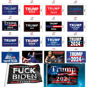 45 Designs Direct Factory 3x5 ft 90 * 150 cm SAVE AMERIKA SAVER AMERIKA NOCH Trump Flagge für 2024 Präsident USA DHL Schiff