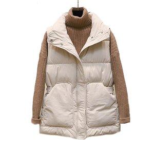 Women's Down & Parkas Cotton Body Warm Vest Coat Winter New Ladies Casual Waistcoat Female Sleeveless Long Jacket Slim IDPR PL19 F