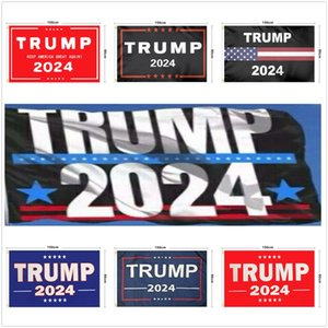 12 Style 2024 Trump Biden Flag 90*150cm US Presidential Election Flag Polyester pongee Material Trump 2024 Flags Banners sea shipping LLA391