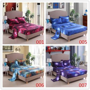Sheets & Sets 3D Galaxy Bed Sheet Set King Queen Full Twin Size Fitted flat Linen