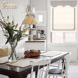 Blinds Anvige Modern 60 Colors Roman Shades With Trim, Made To Measure Blind,made Of Cotton Fabric