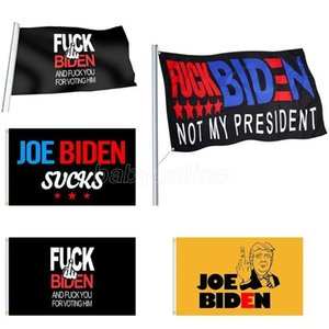 DHL Free 9 Styles Biden Flag 90*150cm Biden Is Not My President Banner Printed Biden Harris Polyester Flag Banner