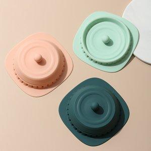 Couvercle de vidange de sol pliable en silicone anti-encrassement du plancher de plancher de plancher Désodorant filtre filtre de la salle de bain accessoires de cuisine My-Inf0613 104 S2