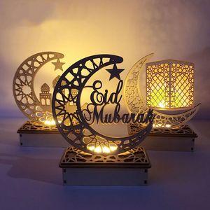 Holiday Lighting Islam Ramadan Decoration Round Moon Light Eid Mubarak Decor For Home Uesd Decor Ramadan Eid Uesd