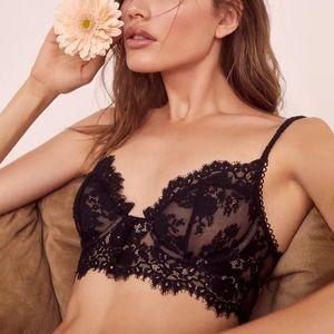 브래지어 세트 여성 속옷 세트 속눈썹 레이스 브래지어 란제리 섹시한 브라 렛 브래지어와 팬티 섹스 T 백 팬티 블랙