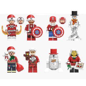 Christmas Series Mini Minifig Brick Building Blocks Gift Toys Children