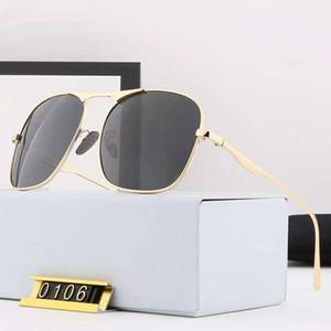 Mann Sonnenbrille Mode Sommer Männer Frau Straße Sonnenbrille 0106 UV400 5 Farbe Hohe Qualität