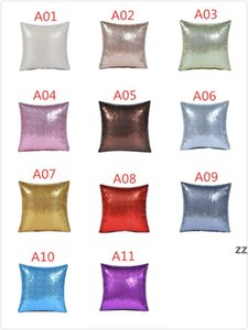 11 colors glitter sequins pillow case solid color cushion home car comfortable decor waist cushions cover pillowcase HWD10643