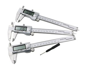 2021 New Fashion All Metal Stainless Steel Digital Vernier Caliper 6-Inch 150mm Widescreen Electronic Micrometer Accurately Measuring Tools