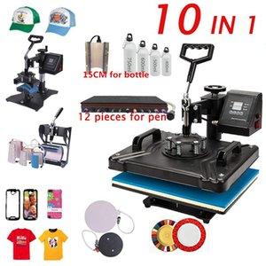 10 In 1 Combo Sublimation Heat Press Machine T shirt Heat Transfer Printer For T Shirt Plate Mug Pen Cap Phone Case Bottle