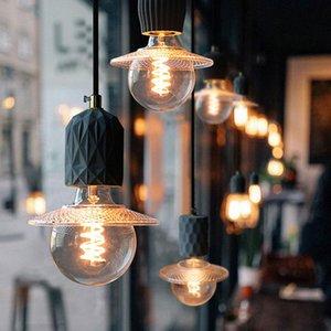 Vintage Cement Kitchen Island Pendant Lights Nordic Soggiorno Decor Bedroom Lampada Lampada moderna LED Bar Cafe Restaurant Light Fixture