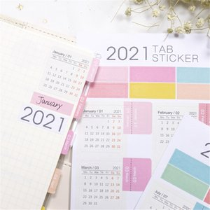 2021 Calendar Stickers Kawaii Stationery Sticker Planner Agenda Sticker Label Calendar Sticker Organizer School Office Supplies