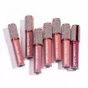 Lip Gloss 10 pcs personalizado etiqueta privada diamante lipgloss atacado claro brilhante glitter brilhante maquiagem líquido batom bulk